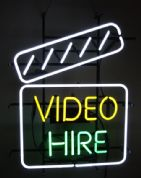 Video Hire Neon Sign